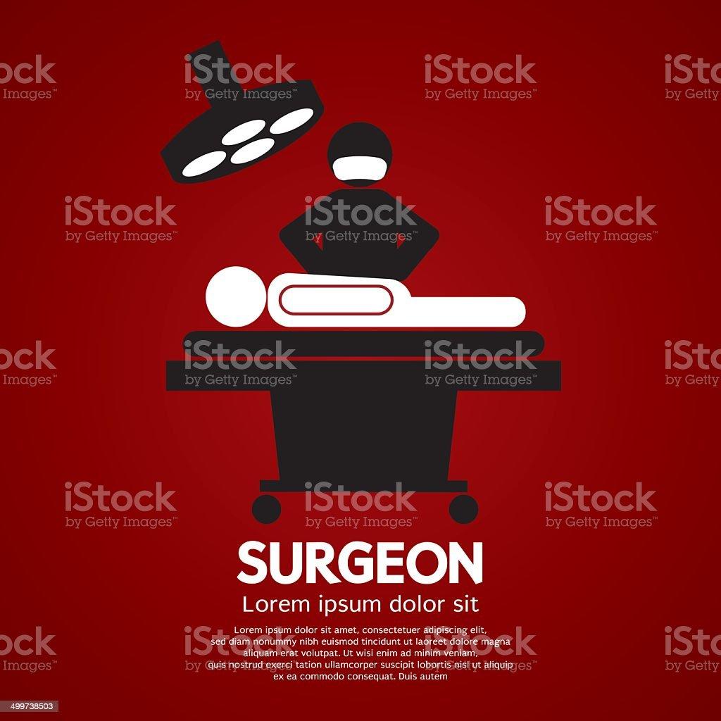 Surgeon Operate On Patient Sign vector art illustration