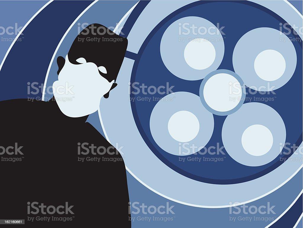 Surgeon Silouette vector art illustration