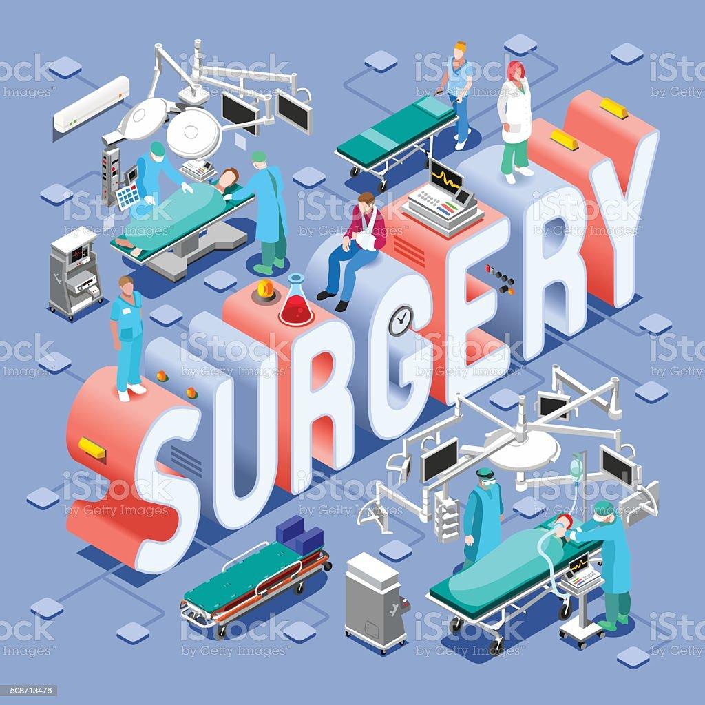 Surgery 01 Concept Isometric vector art illustration