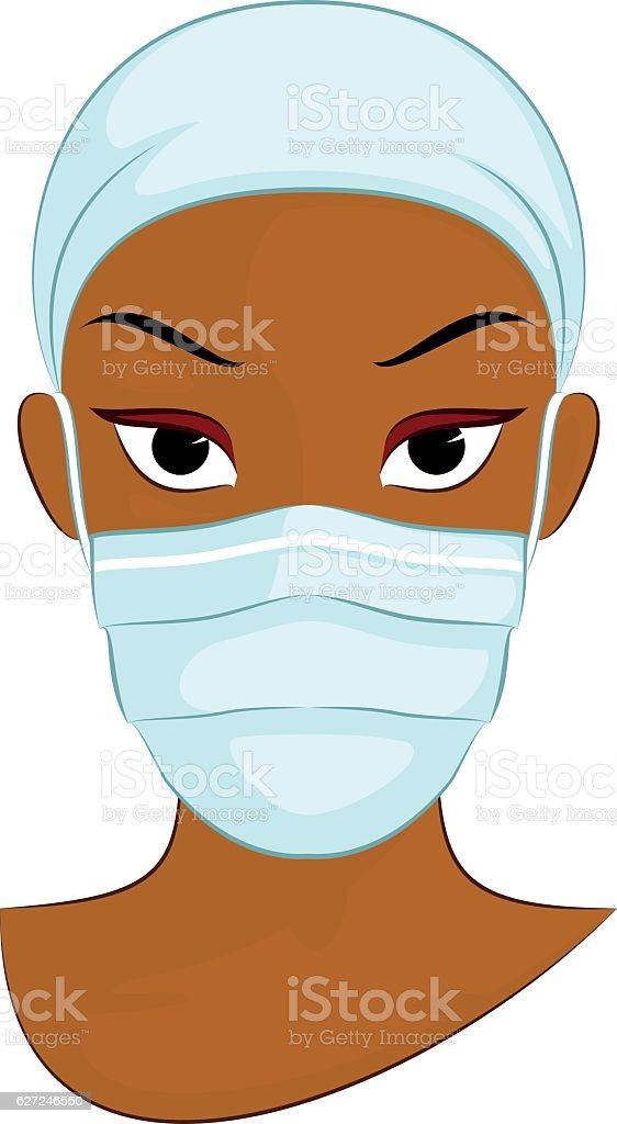 Surgical Mask vector art illustration