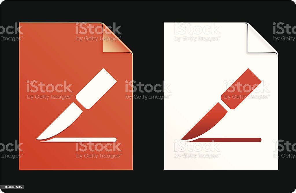 surgical scalpel design elements royalty-free stock vector art