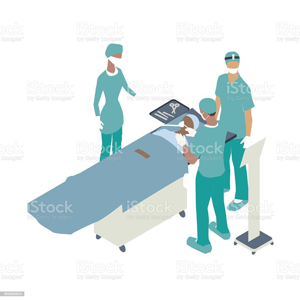 Surgical team illustration vector art illustration