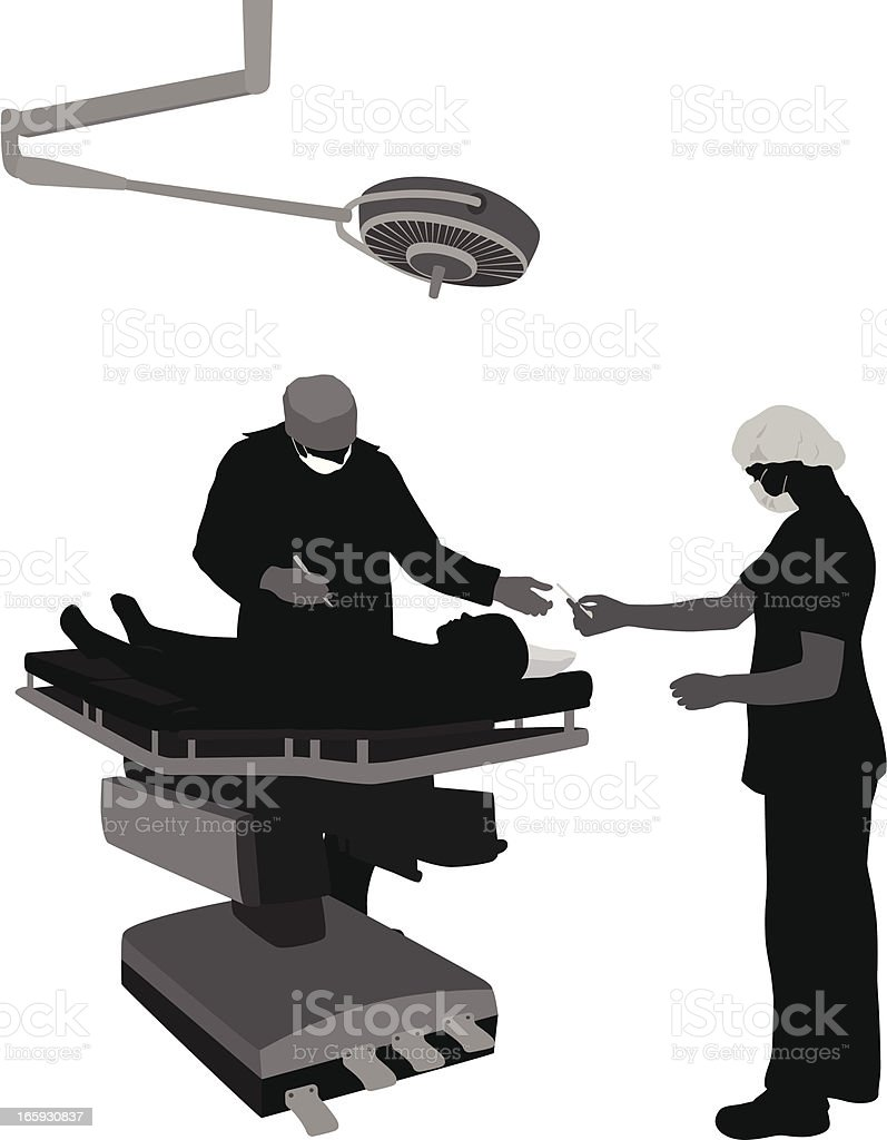 Surgical Vector Silhouette royalty-free stock vector art