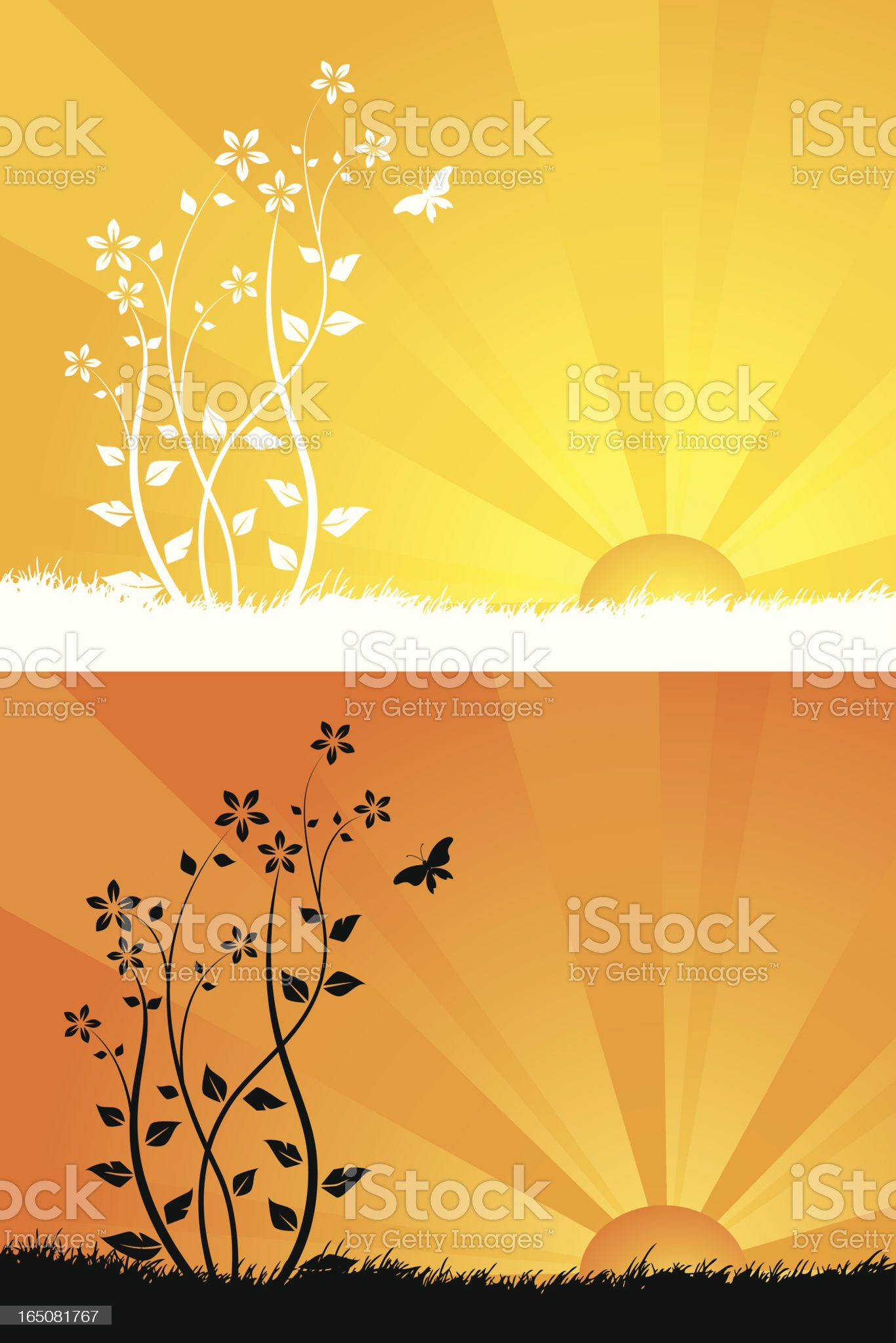 Surise flowers royalty-free stock vector art