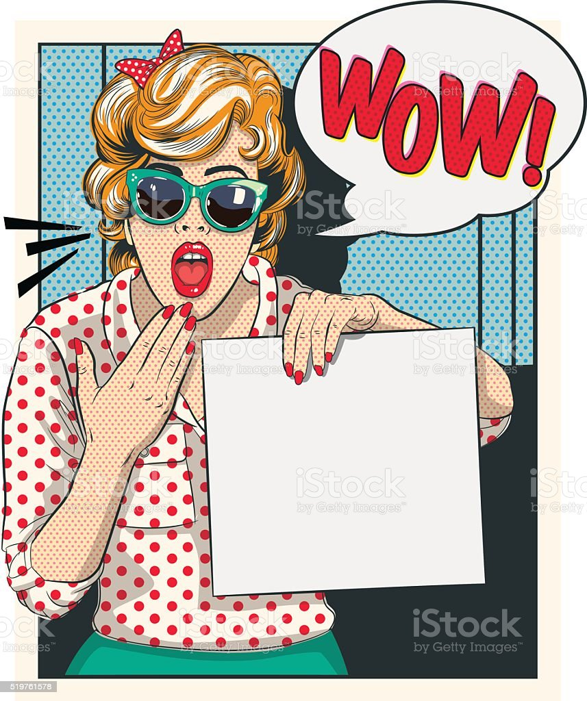 Surprised Cartoon vintage - Ilustration vector art illustration