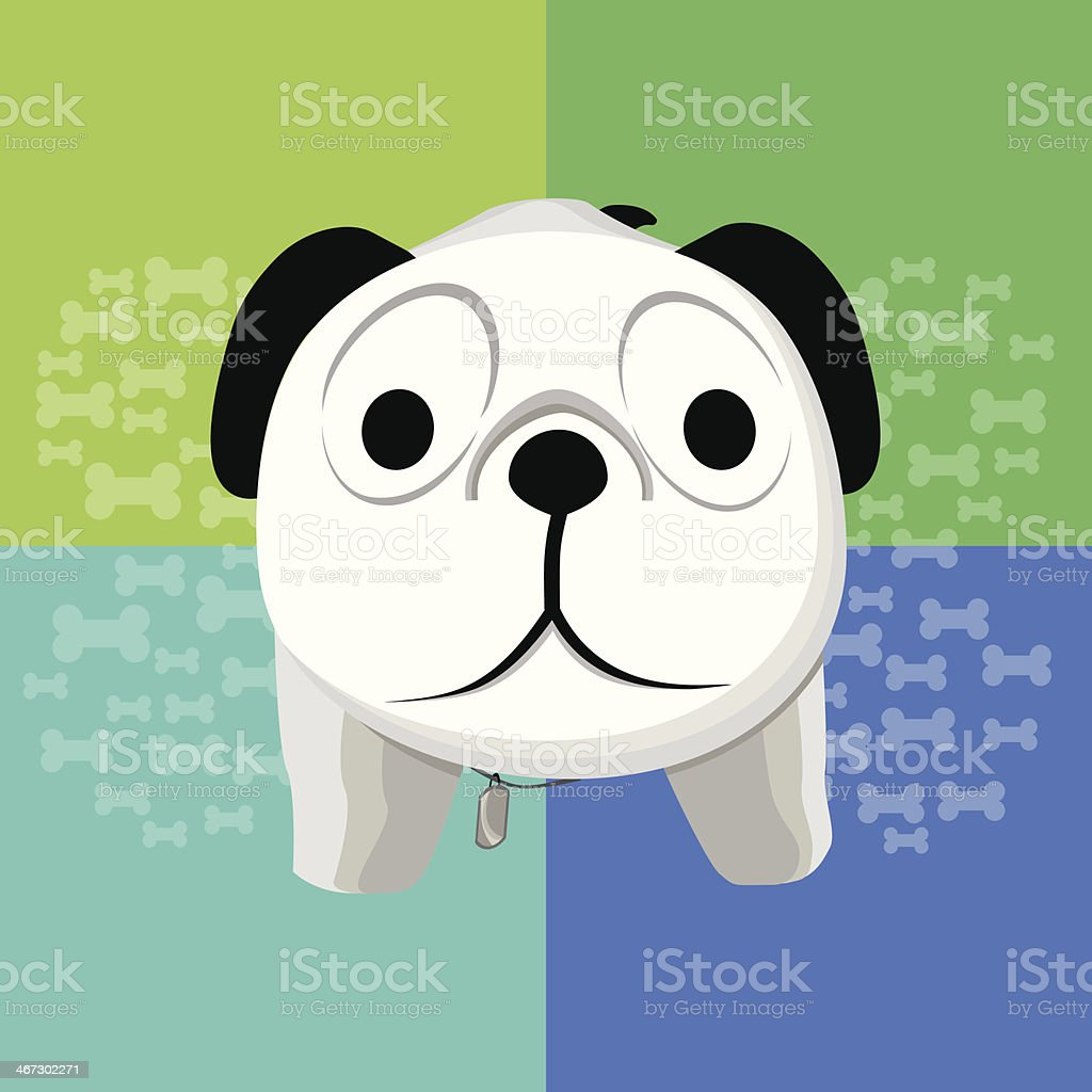 Surprised dog vector art illustration