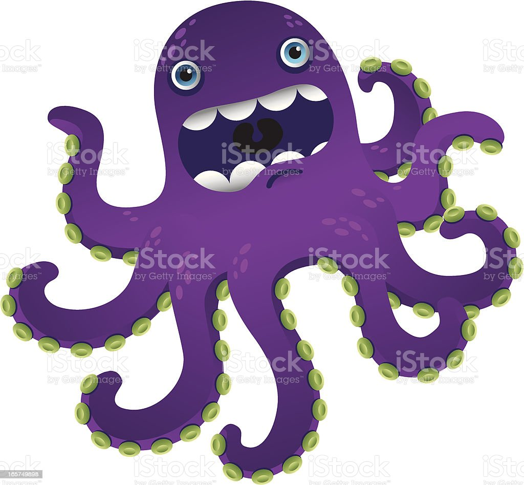 Surprised Octopus royalty-free stock vector art