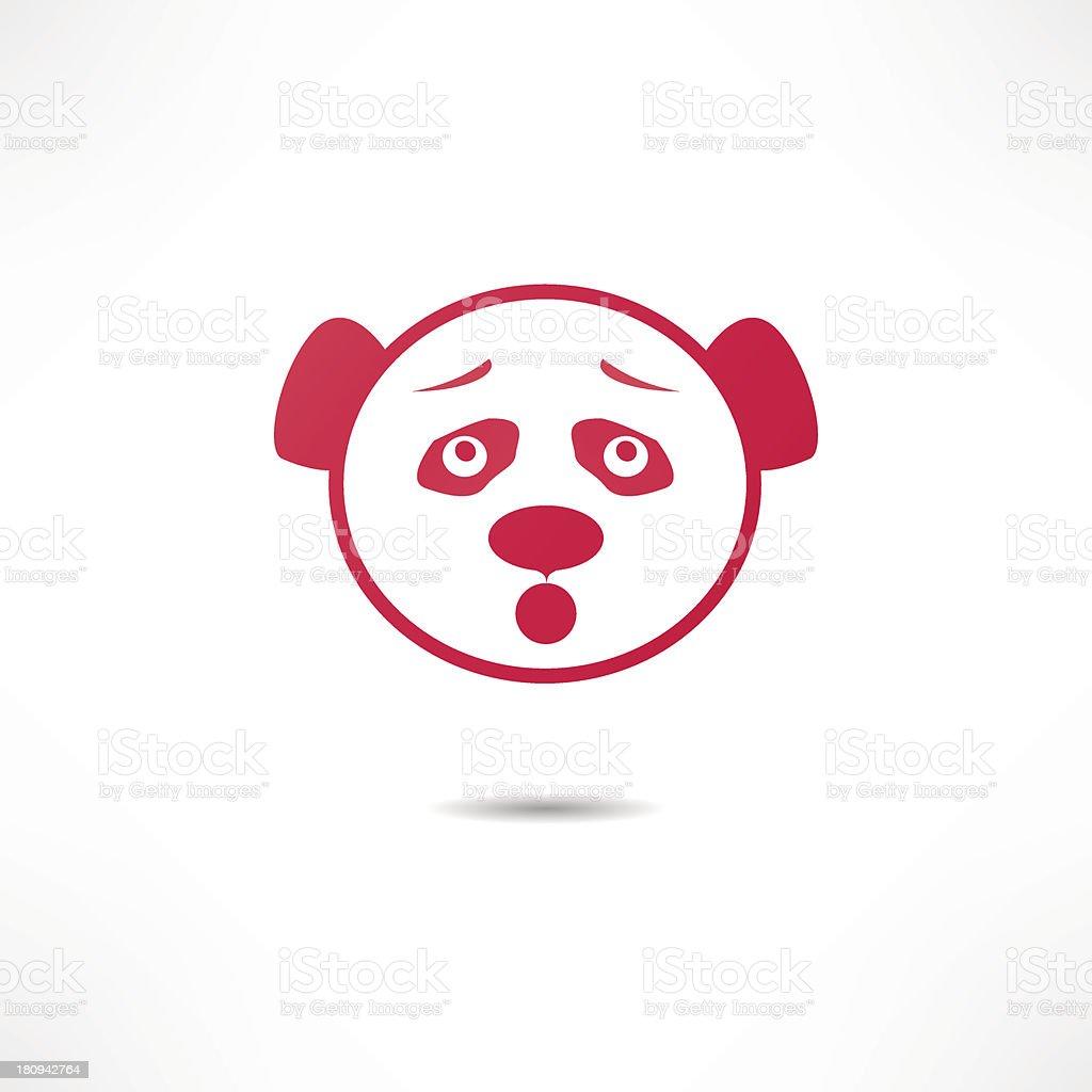 Surprised panda. royalty-free stock vector art