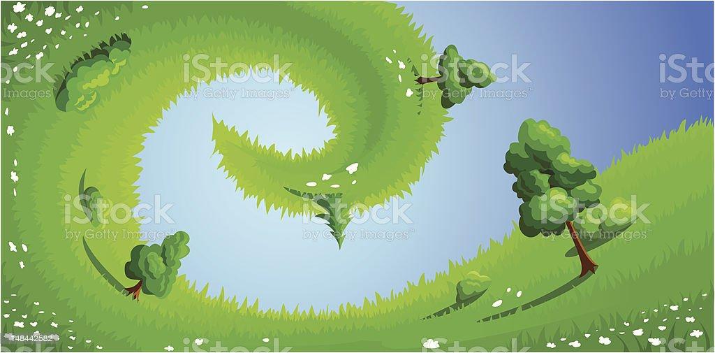 Surreal summer landscape. Vector illustration. royalty-free stock vector art
