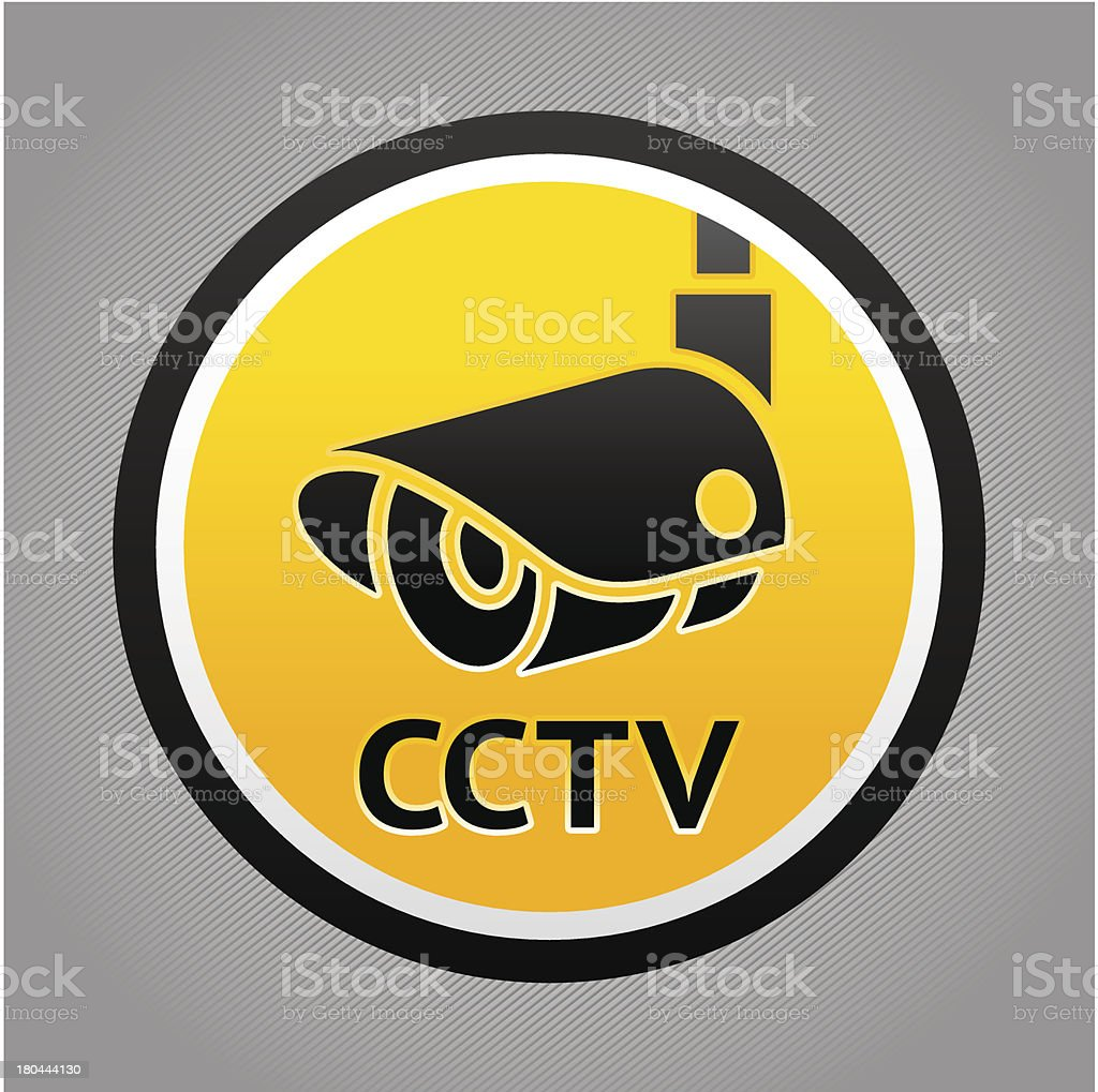 Surveillance camera warning sign royalty-free stock vector art