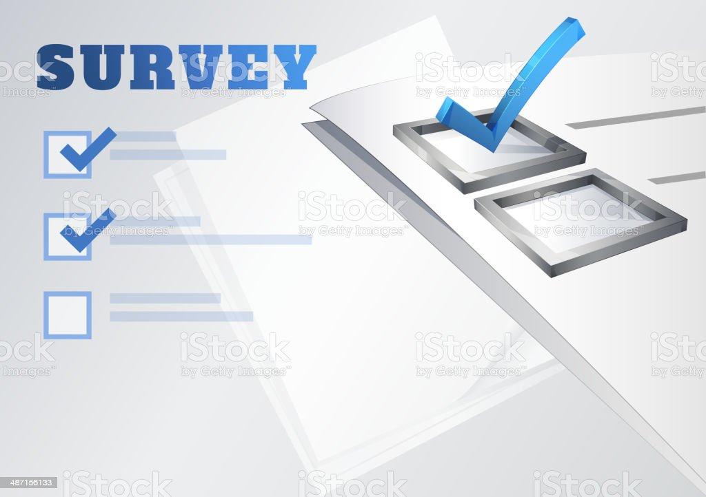 Survey Banner royalty-free stock vector art