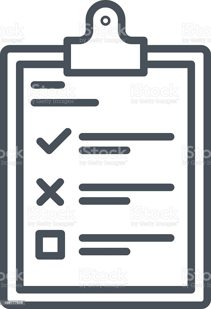 Survey to do list icon vector art illustration