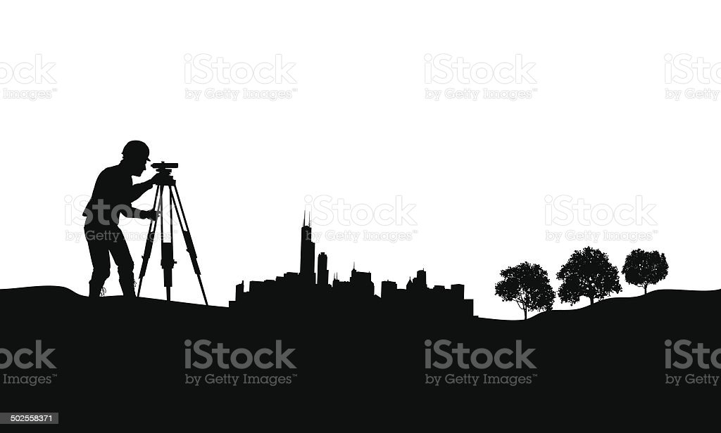 Surveyor City Graphic Background vector art illustration
