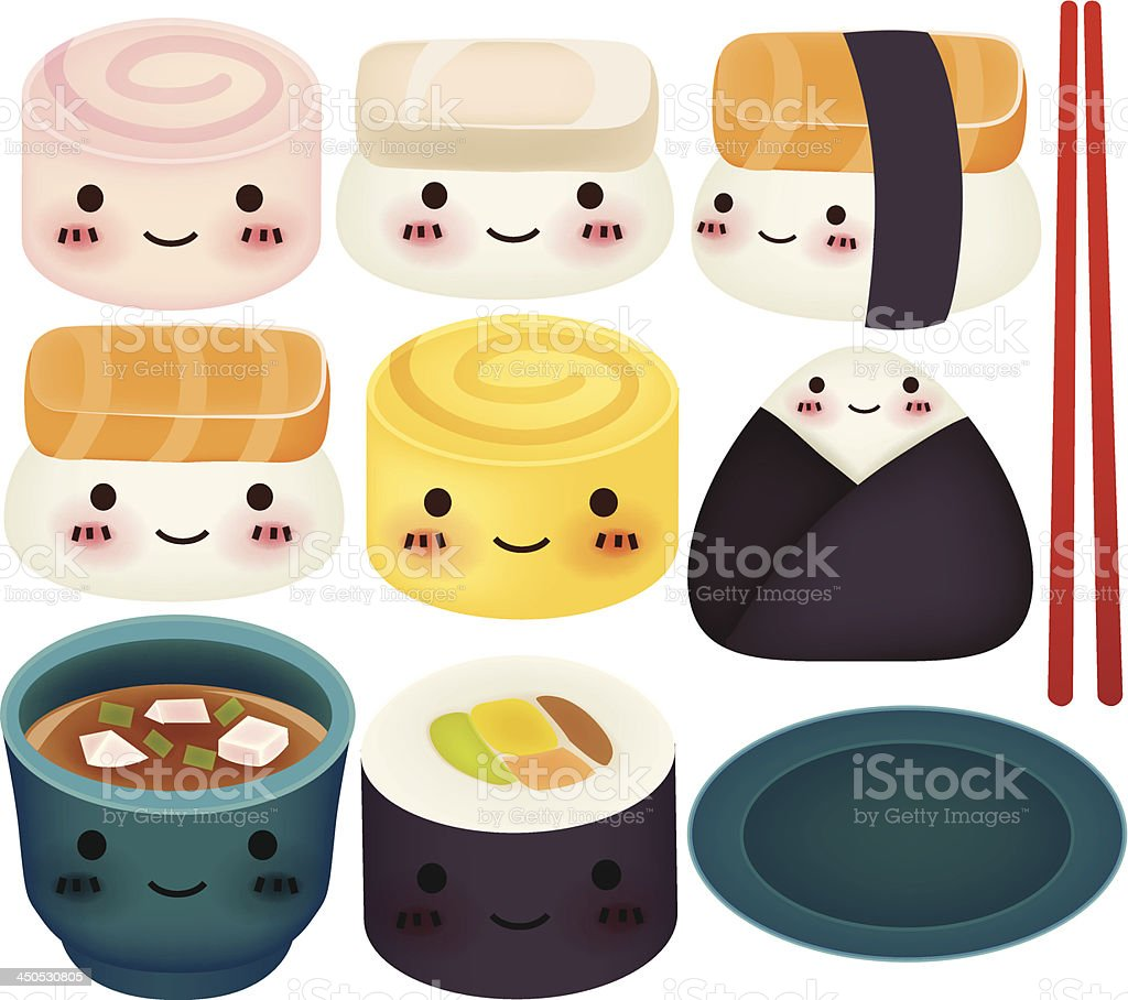 Sushi Collection - Vector File EPS10 royalty-free stock vector art