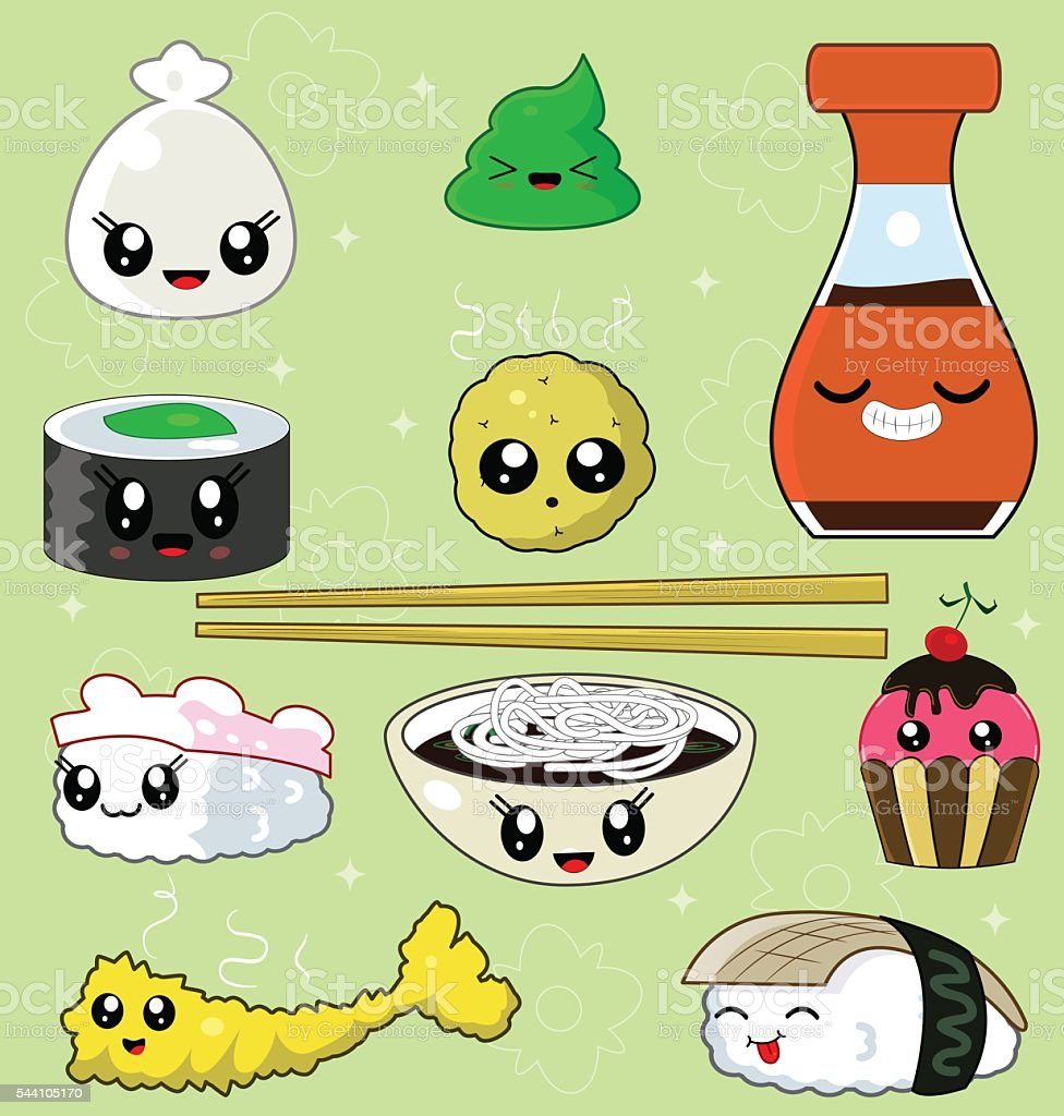 Sushi Collection - Vector File vector art illustration