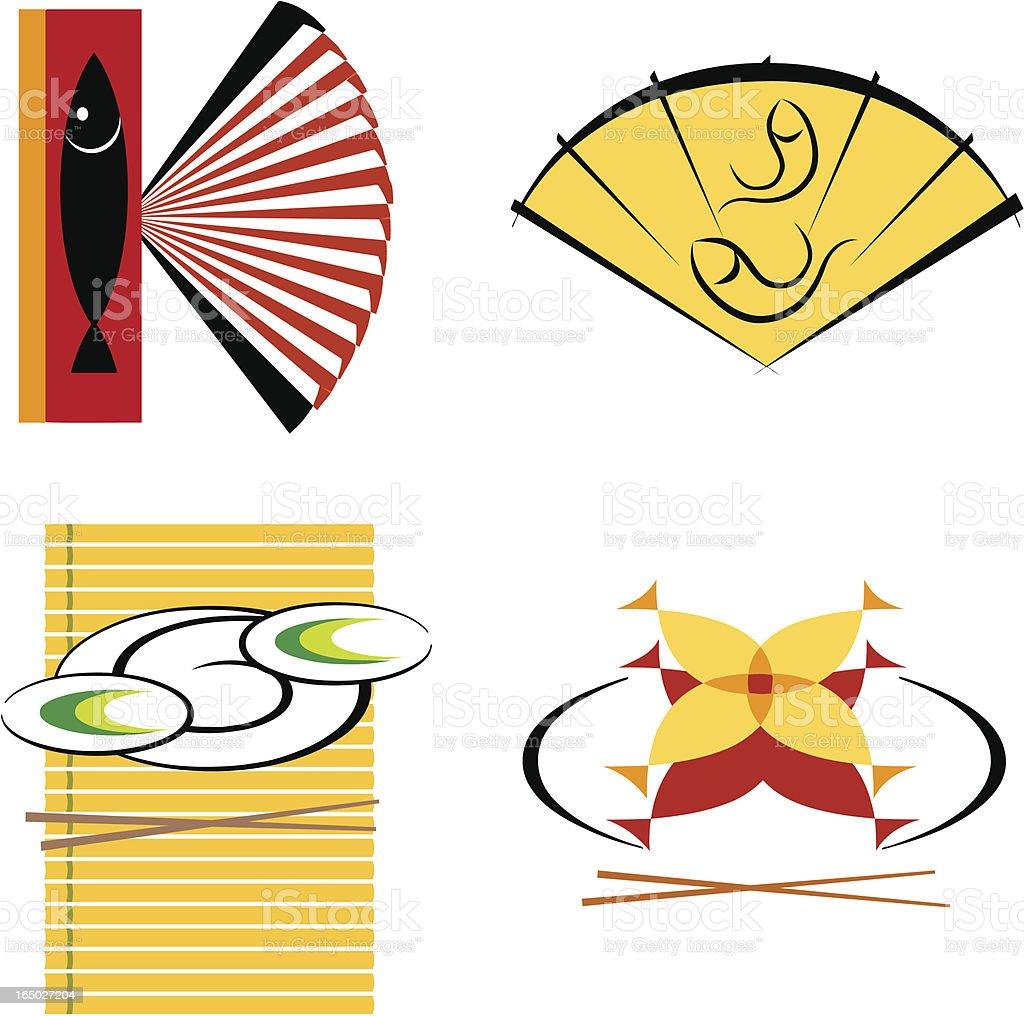 Sushi  & Fish Symbols royalty-free stock vector art