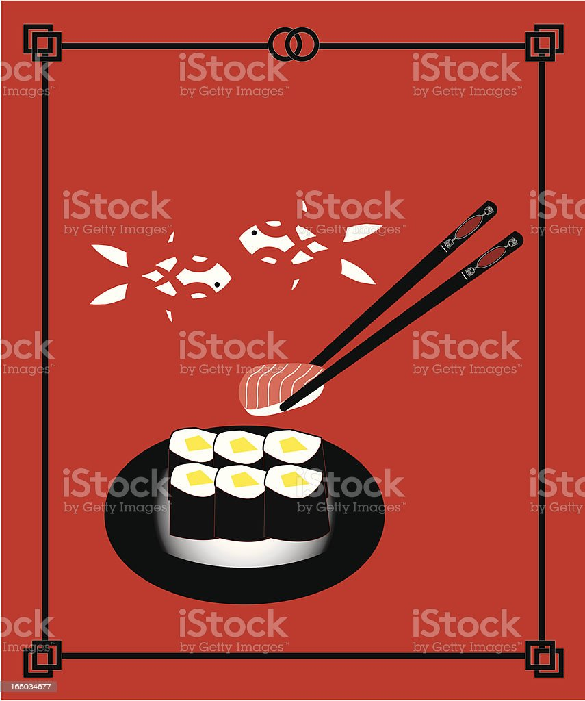 Sushi Maki ( Vector ) royalty-free stock vector art