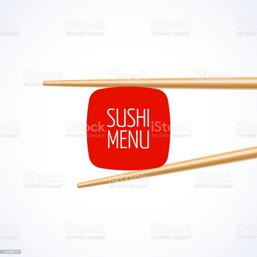 Sushi menu cover template vector art illustration