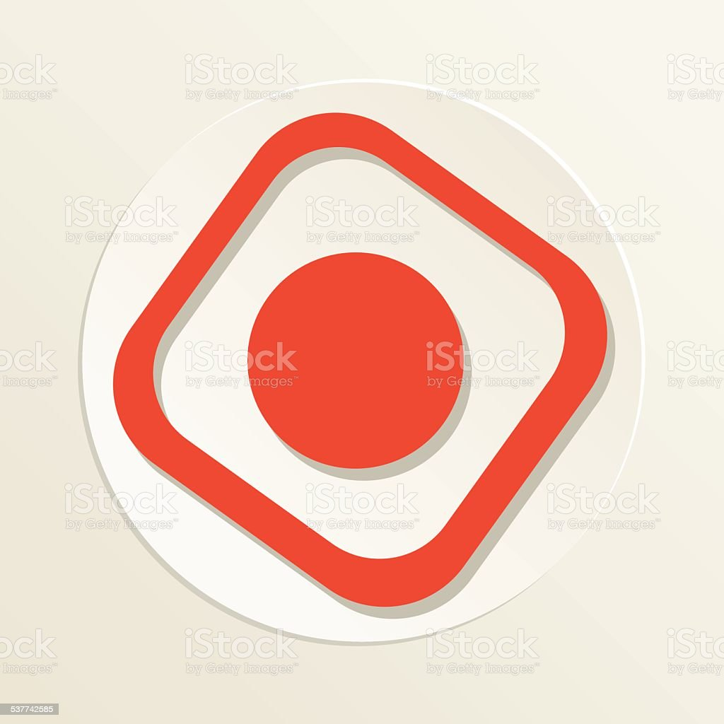 Sushi Restaurant Icon California Roll vector art illustration