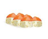Sushi rolls vector icons. Food japanese menu,