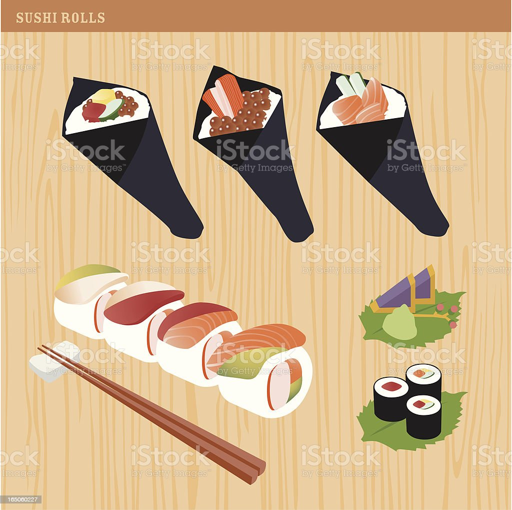 sushi rolls royalty-free stock vector art