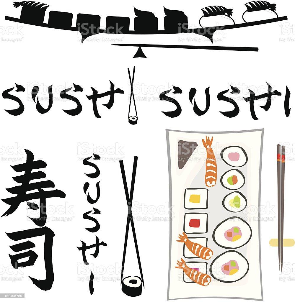 sushi royalty-free stock vector art