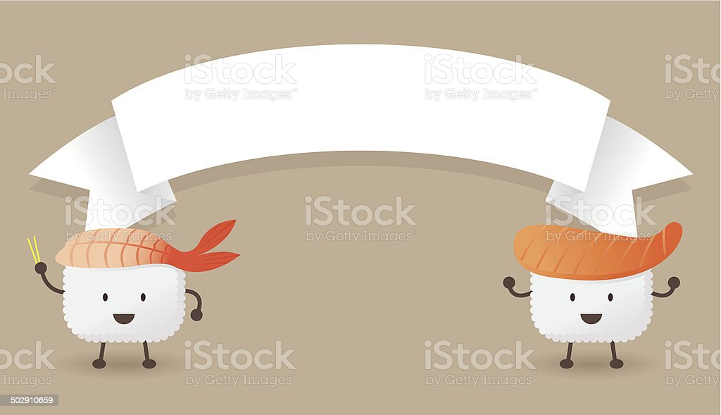 Sushi with Banner royalty-free stock vector art
