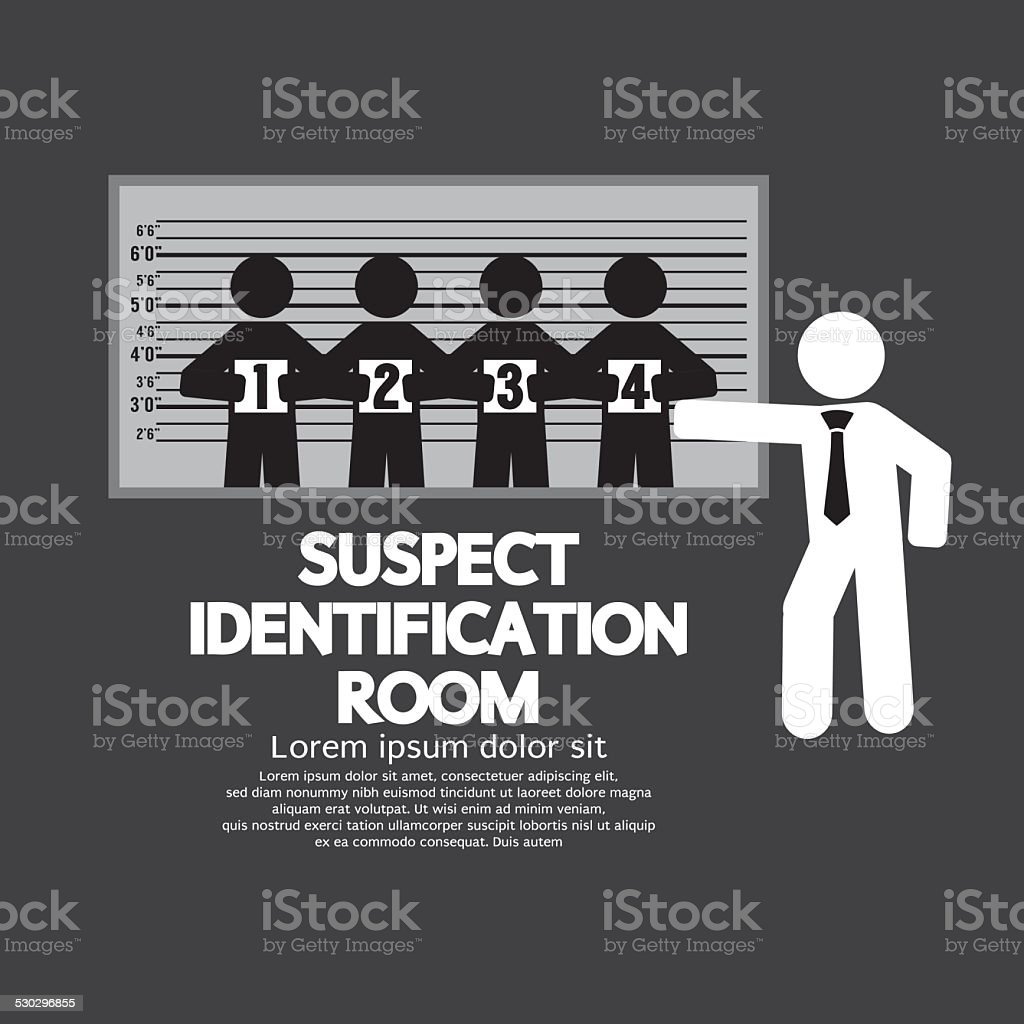 Suspect Identification Room vector art illustration