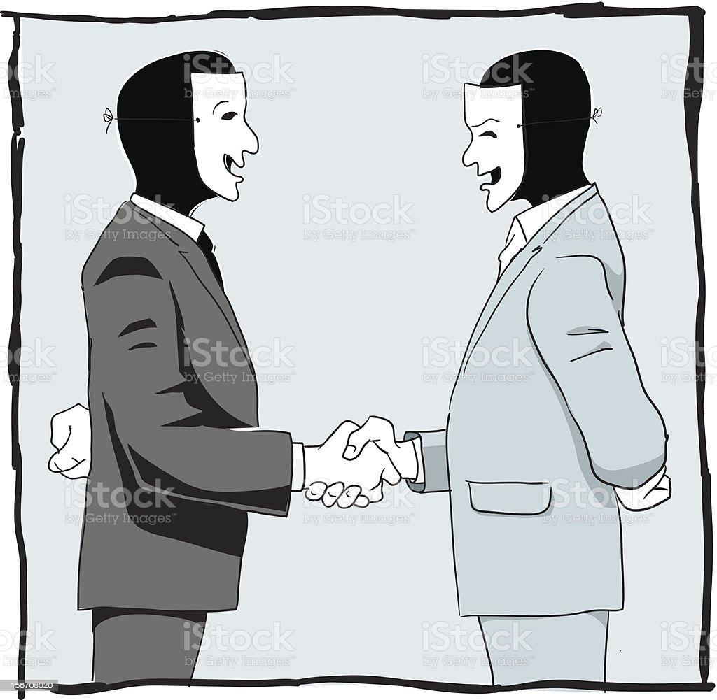Suspicious deal royalty-free stock vector art
