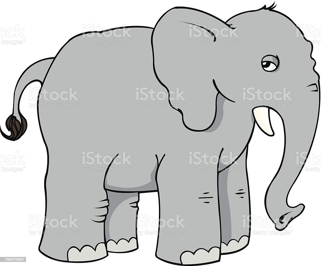 Suspicious Elephant royalty-free stock vector art