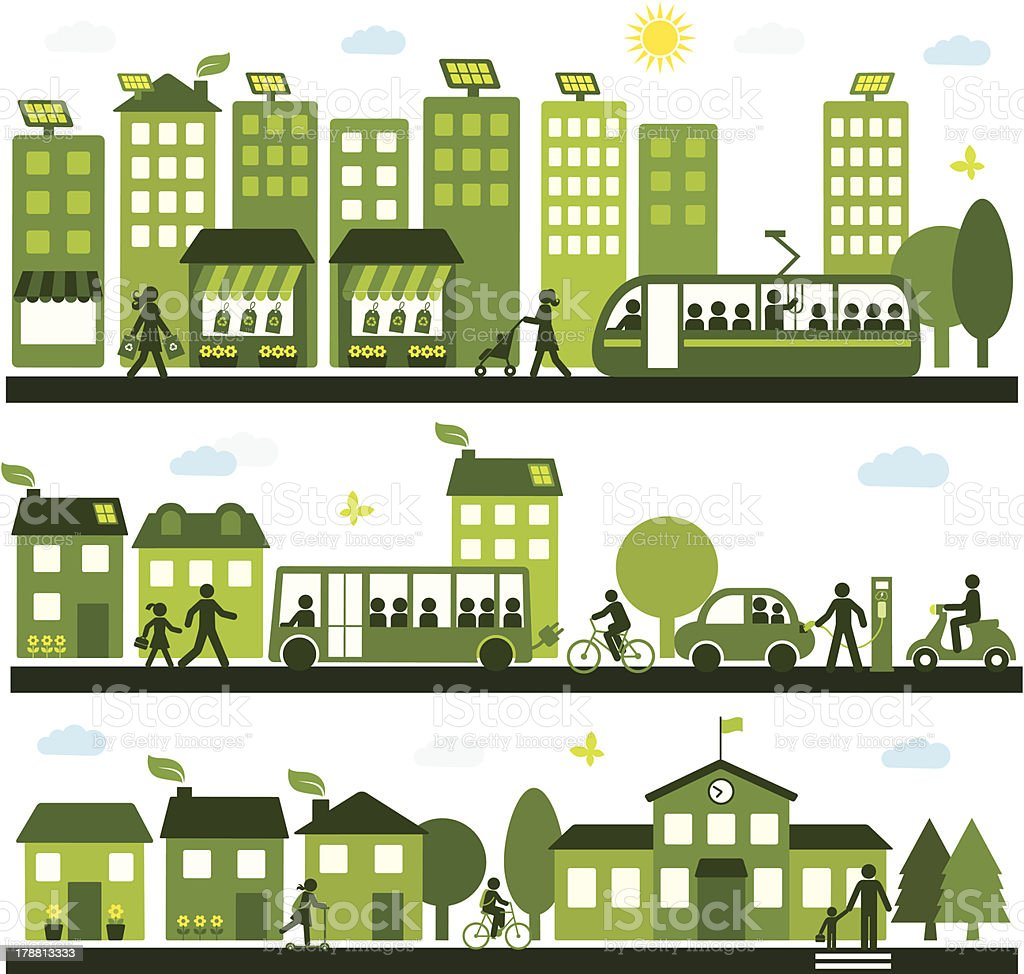 Sustainable City royalty-free stock vector art