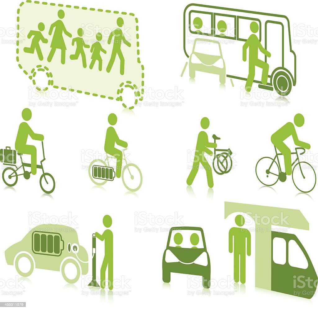 Sustainable Travel royalty-free stock vector art