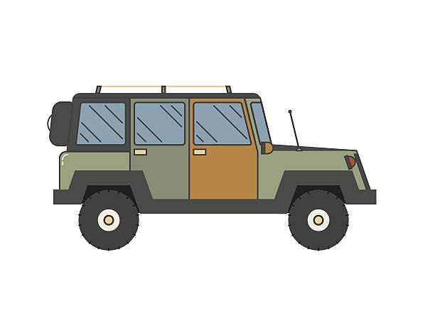 Line Drawing Jeep : Jeep clip art vector images illustrations istock
