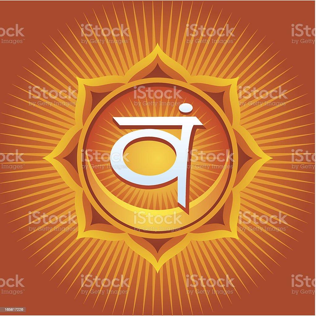 Swadhistana Chakra royalty-free stock vector art