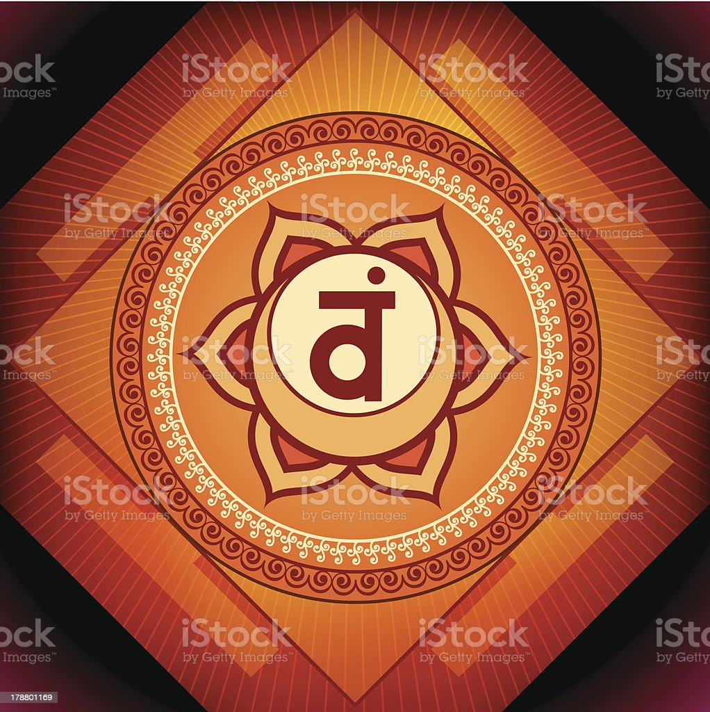 Swadhisthana Chakra vector art illustration