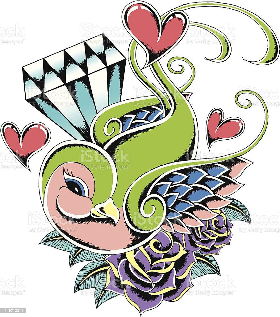 Rondine Tatuaggio illustrazione royalty-free