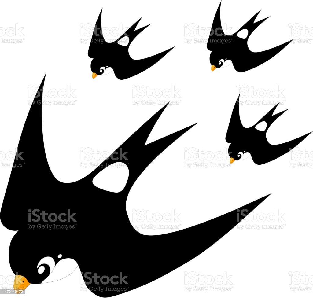 Swallow royalty-free stock vector art