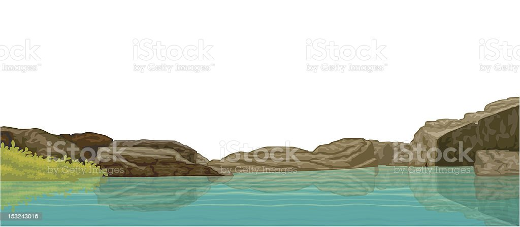 Swamp and stone royalty-free stock vector art