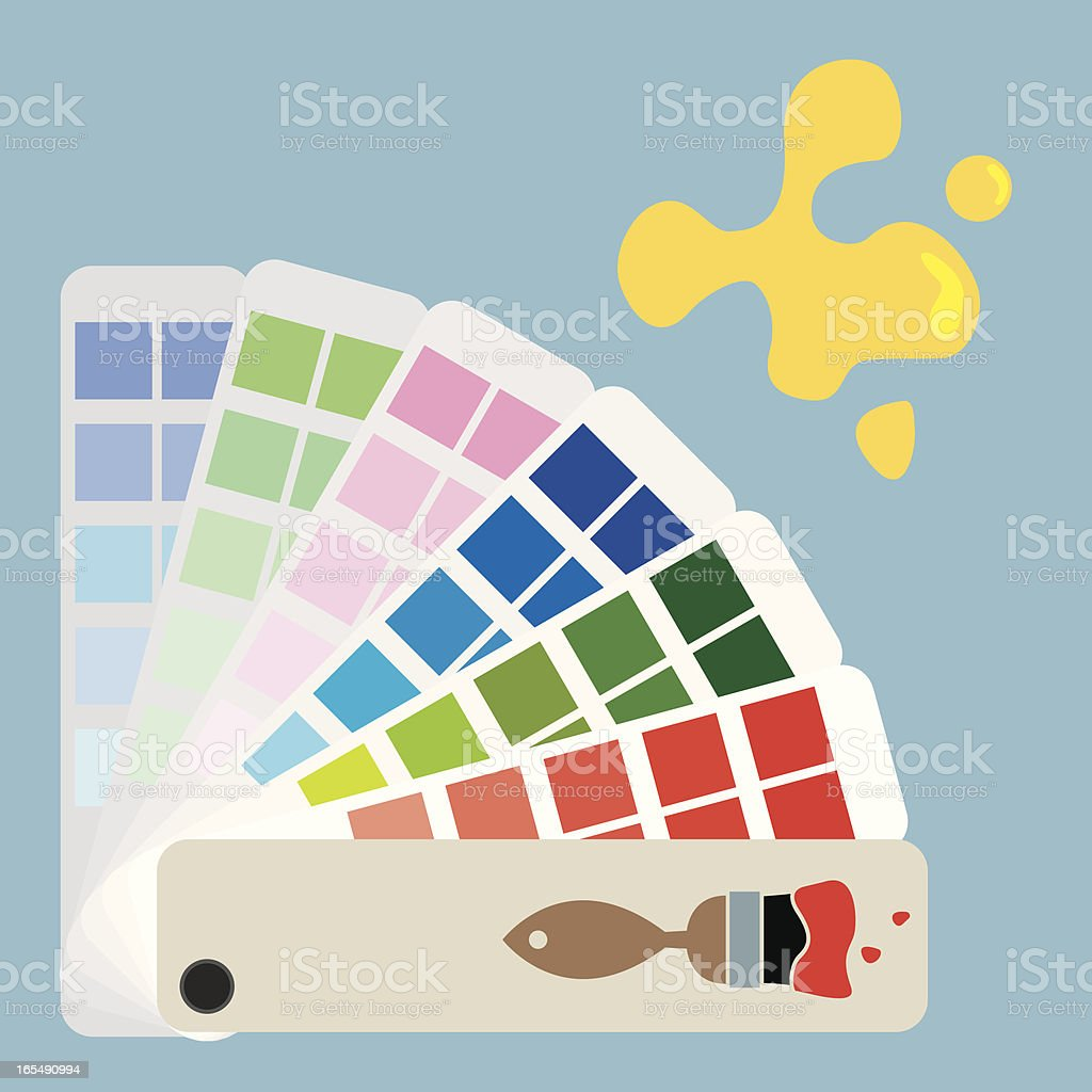Swatches Paint royalty-free stock vector art