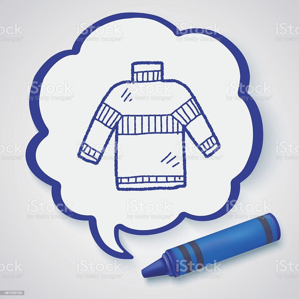 Sweater doodle vector art illustration