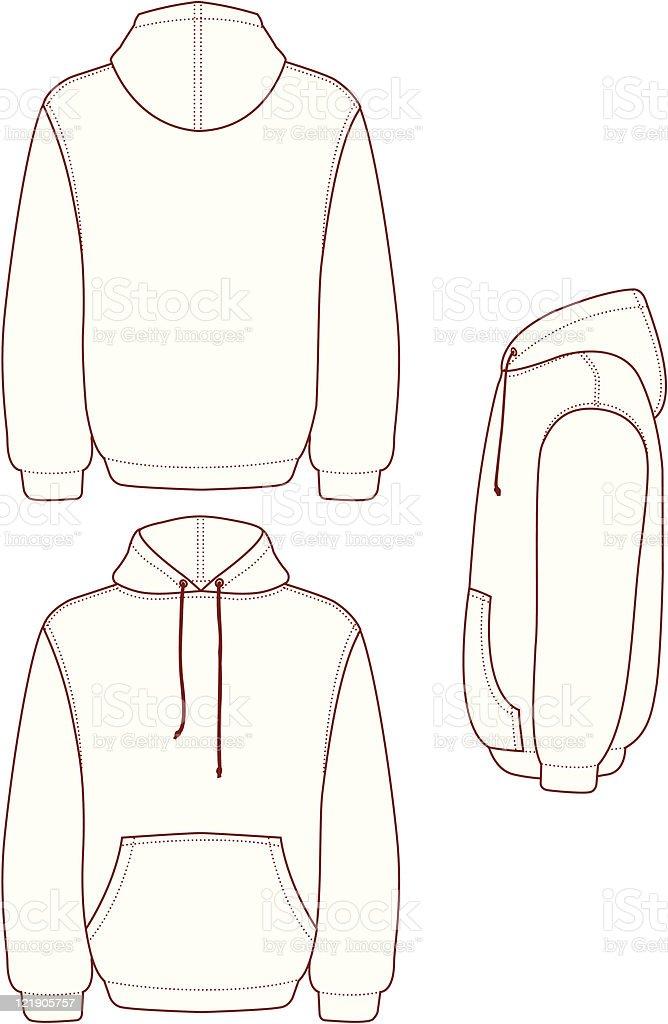 Pullover Hooded Fleece vector art illustration