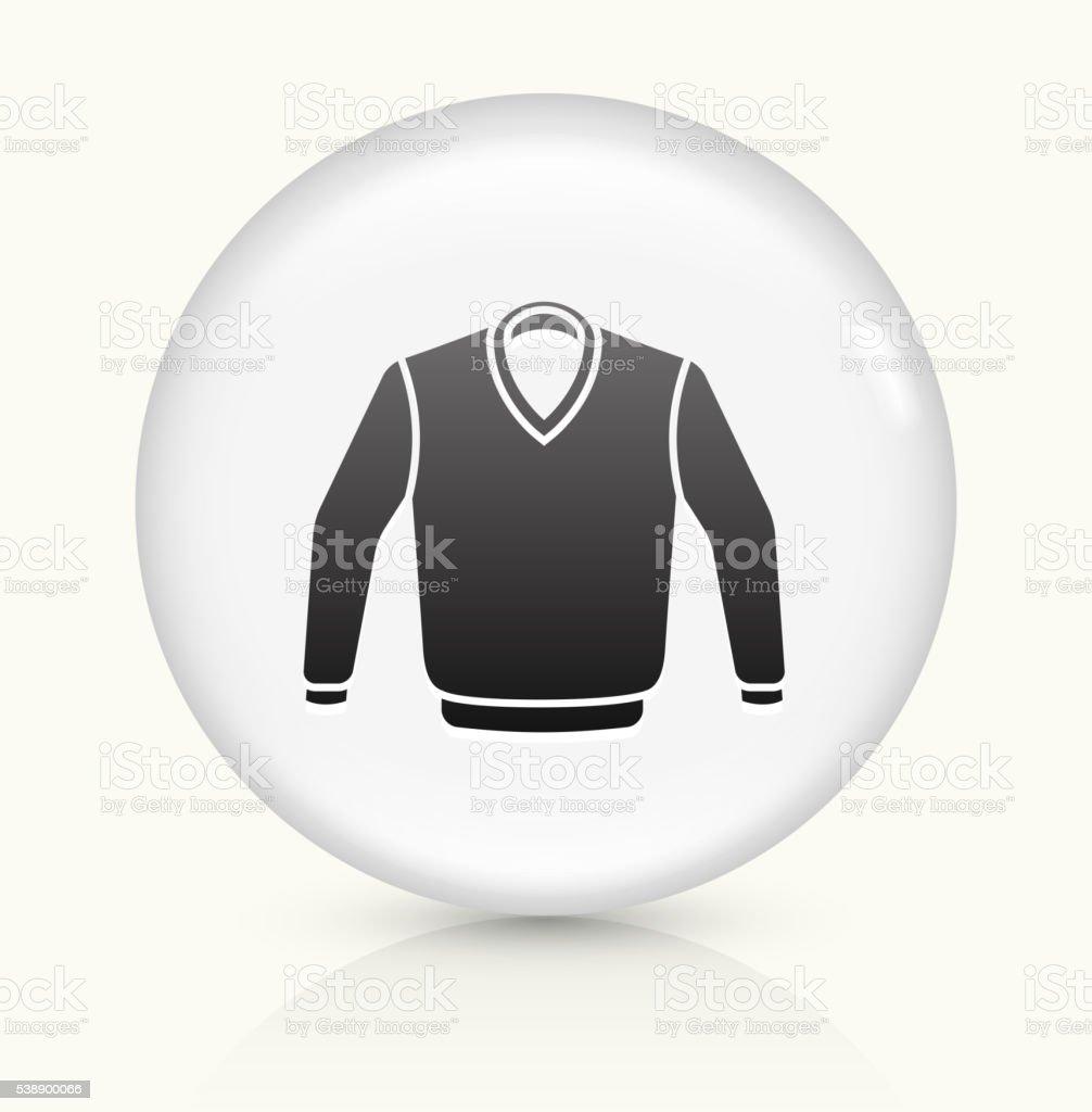 Sweater icon on white round vector button vector art illustration