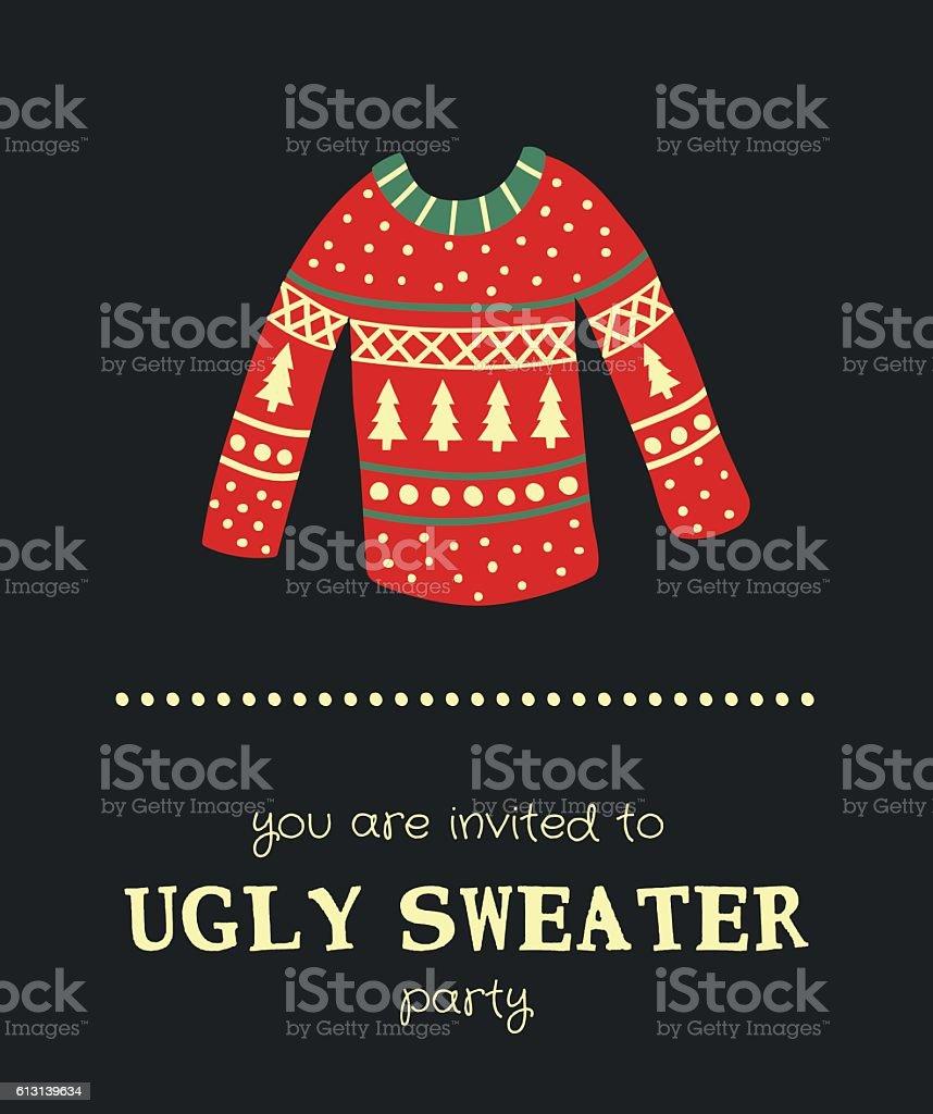 sweater invitation vector art illustration