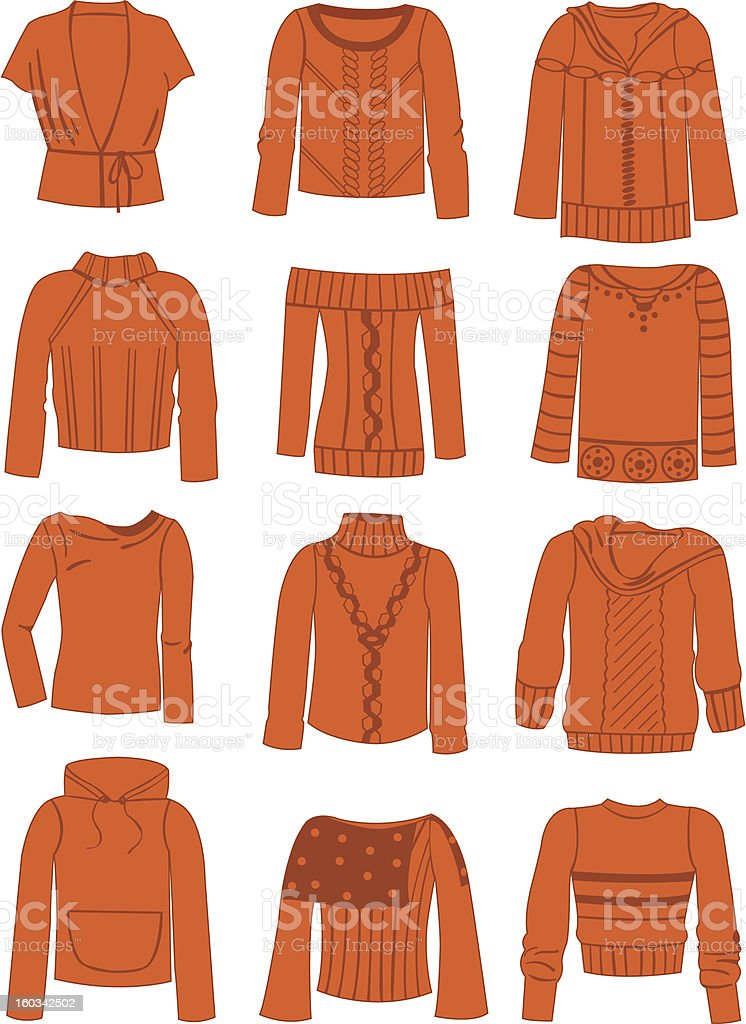 Sweaters royalty-free stock vector art