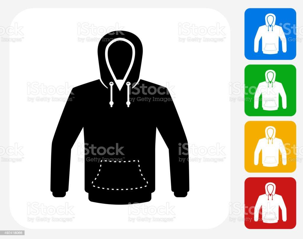 Sweatshirt Icon Flat Graphic Design vector art illustration