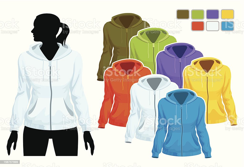 Sweatshirt template royalty-free stock vector art