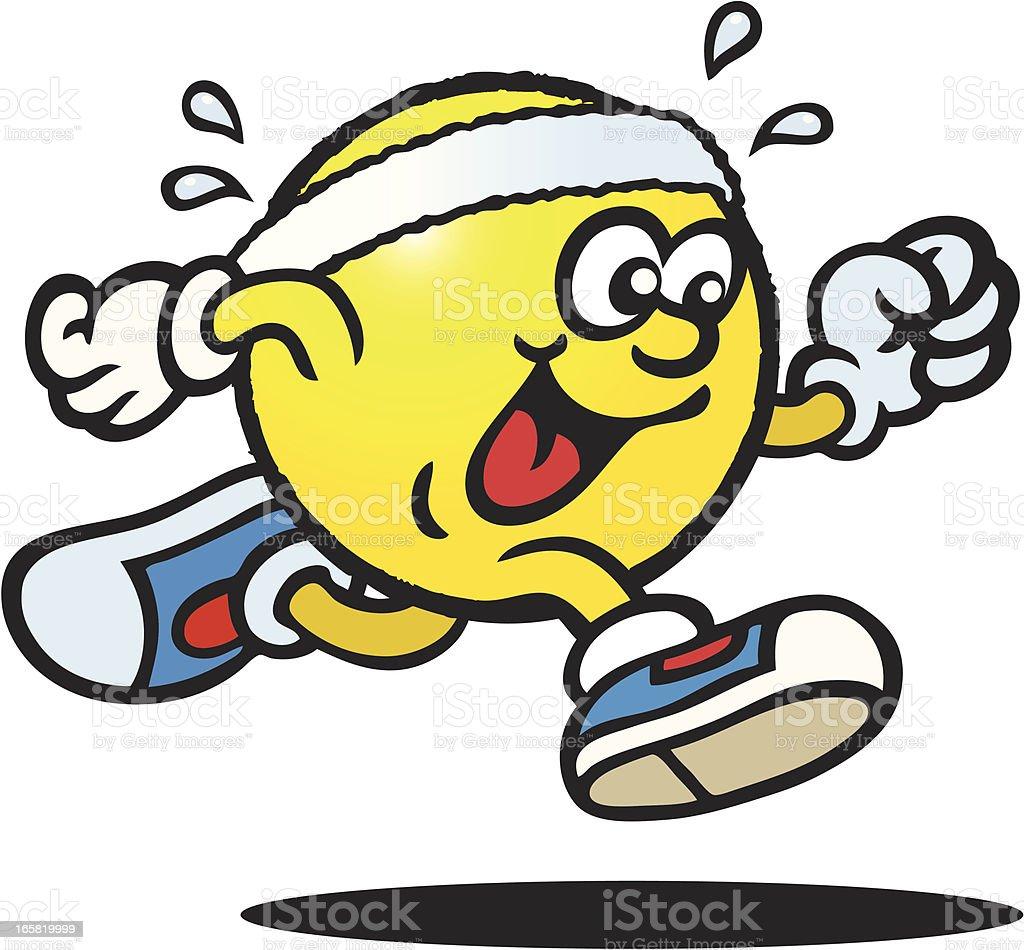Sweaty Tennis Ball vector art illustration