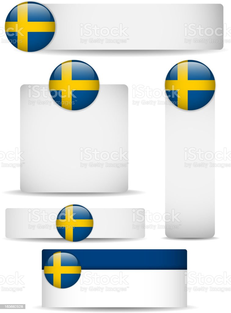 Sweden Country Set of Banners royalty-free stock vector art