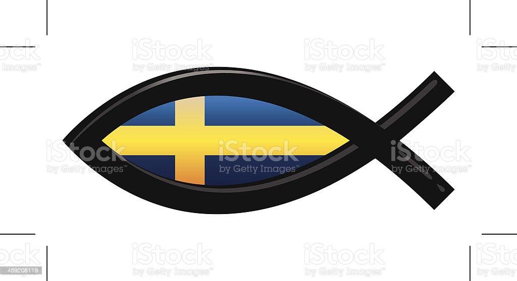 Sweden Flag Icthys vector art illustration