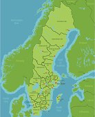 Sweden Map showing Counties